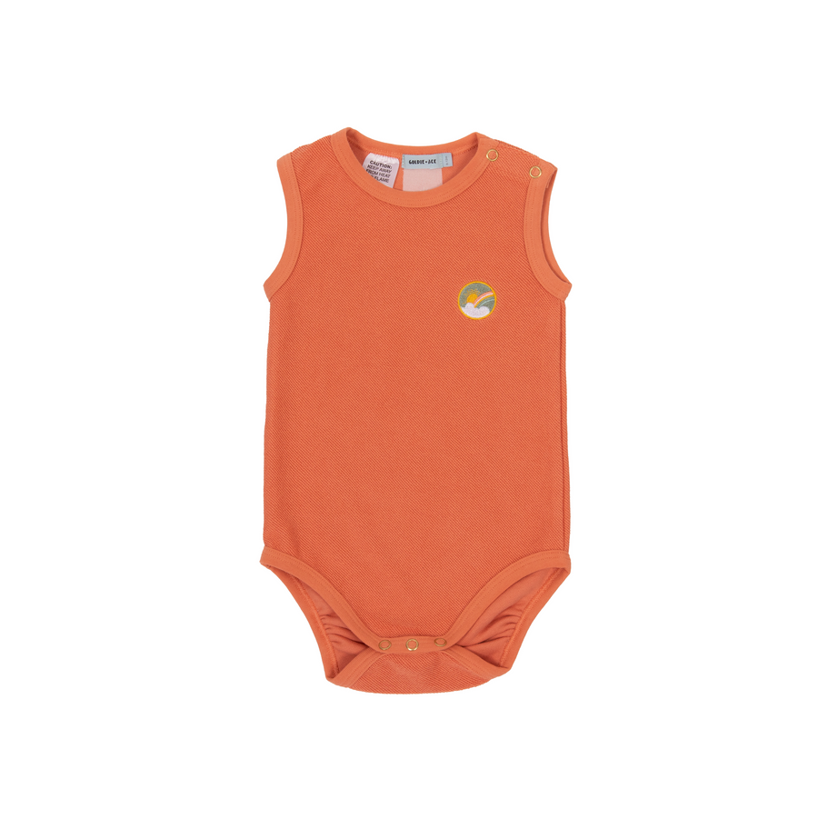 Goldie + Ace DASH TERRY TOWELLING ONESIE - flamingo