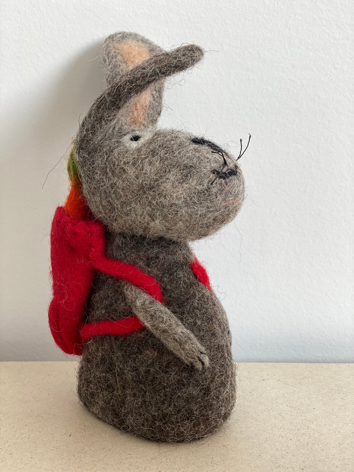 Papoose Hollow Bunny with Backpack 3 pc