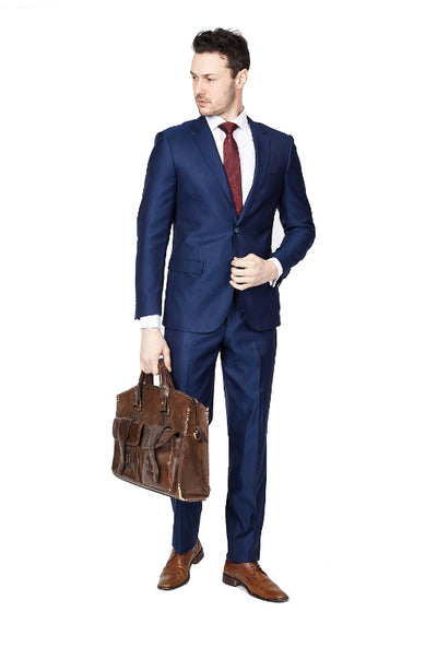 Solid Navy Formal Slim Fit Suit - edwingjsons