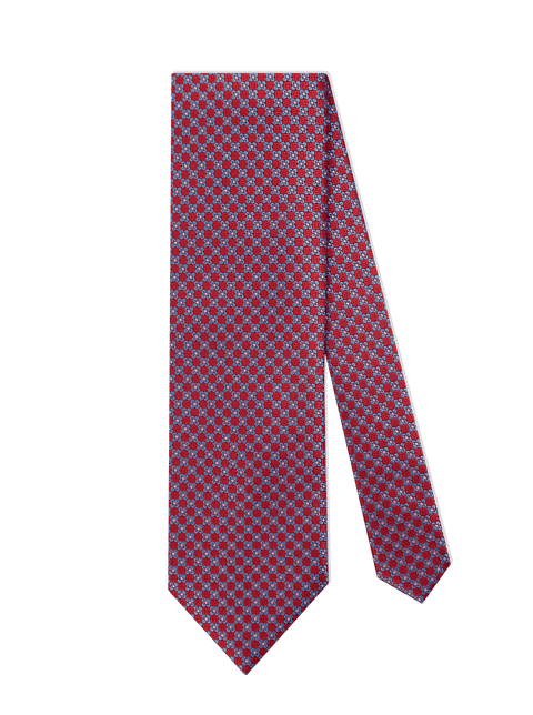 RED W/ BLUE FLOWER TIE - edwingjsons