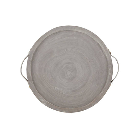Paulownia Handle Tray - Grey