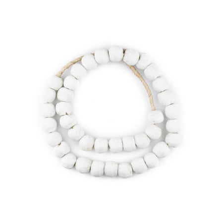Opaque White Recycled Glass Beads