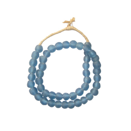 Light Blue Recycled Glass Beads