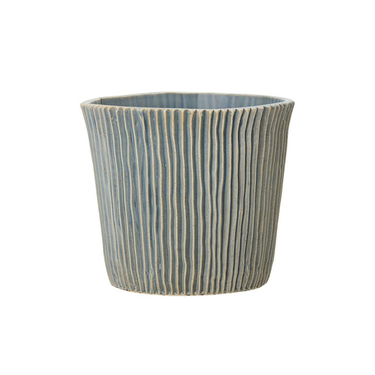 Blue Stoneware Planter