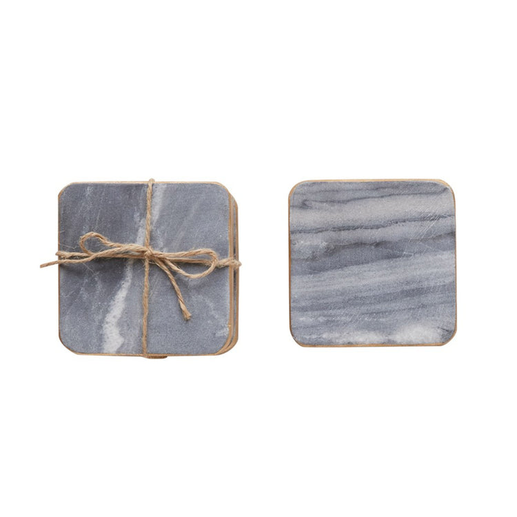 Marble Coasters with Gold Edges