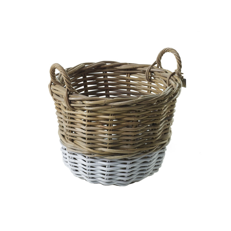 White Dipped Basket