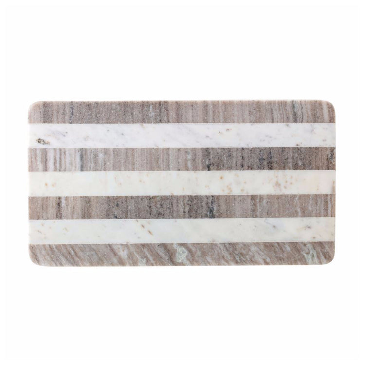 Striped Rectangular Marble Cutting Board