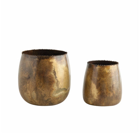 Distressed Metal Planters