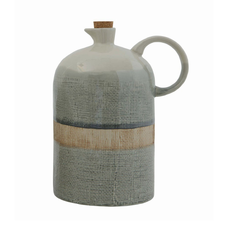 Ceramic Jug with Cork Stopper