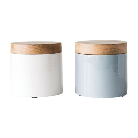 Enameled Mango Canister Set
