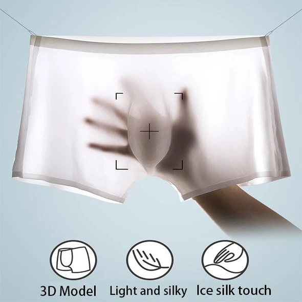 Men's Ice Silk Breathable Boxer Briefs