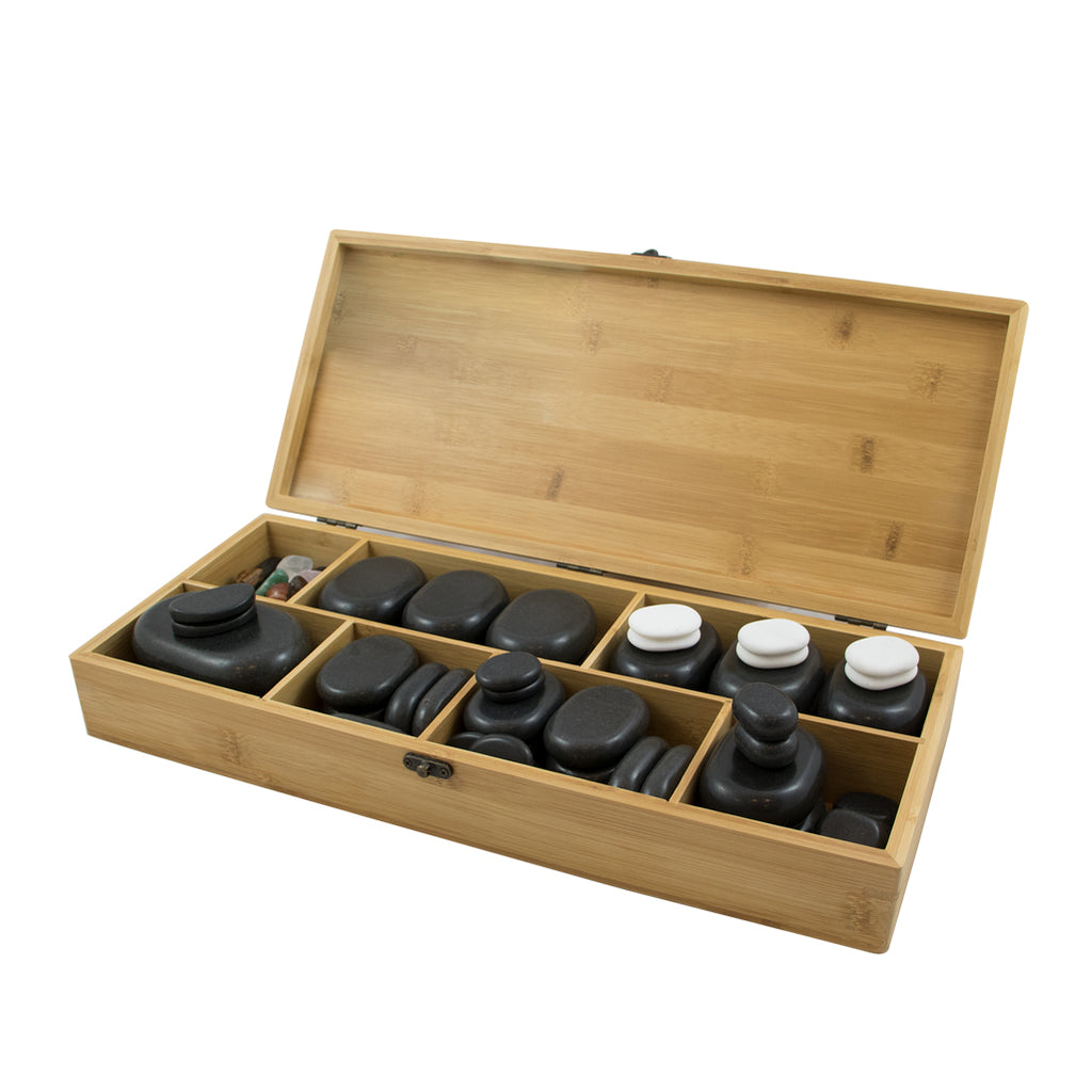 Coffret de 64 pierres en basalte BREATHE