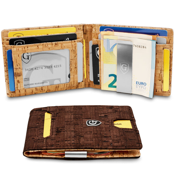 Magic Wallet PACIFIC mit großem Münzfach [schwarz glatt] Magic Wallets GenTo Design Germany