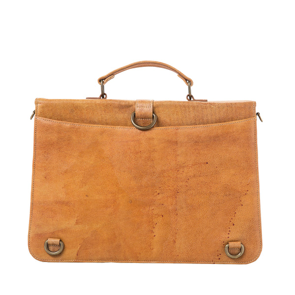 Briefcase - camel brown/kelim