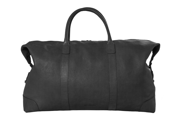 Travelbag - black/leather