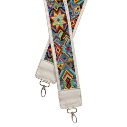 Ellamar Strap - white/silver/glass beads