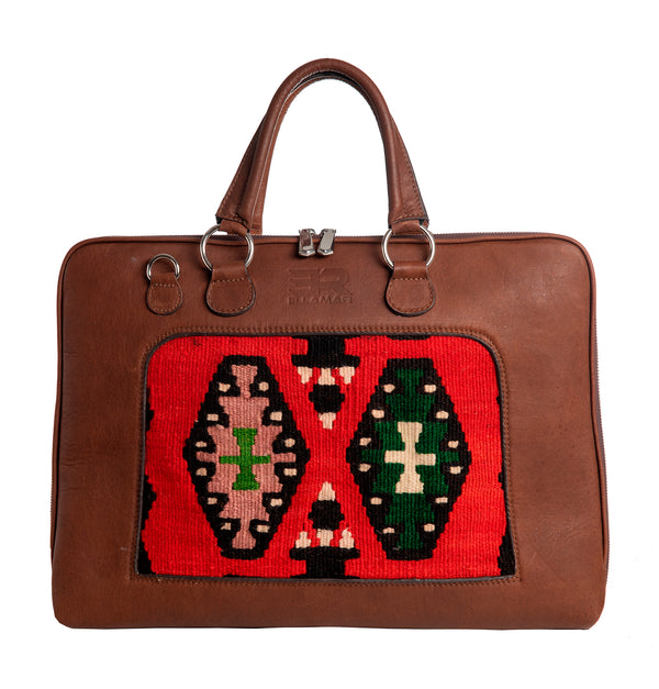 Buenos Aires - brown leather/kilim