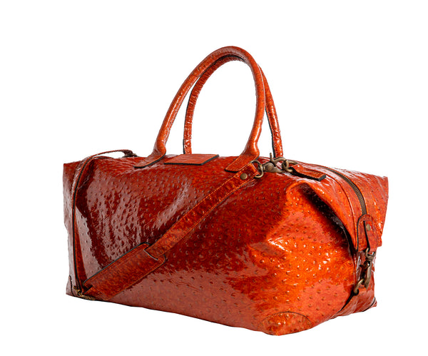 Cape Town -  cognac brown/ostrich leather shiny