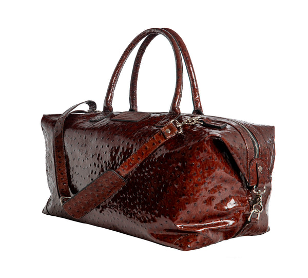 Cape Town - dark brown/ostrich leather shiny