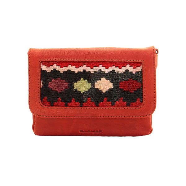 Bag Siena - red-brown/kilim