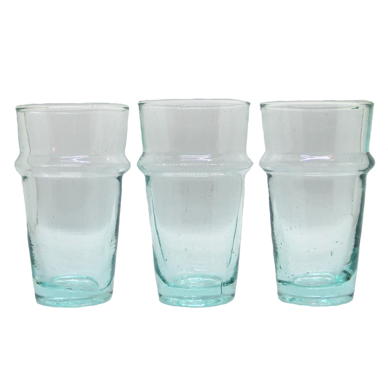 Set of 4 Light Blue BELDI glasses