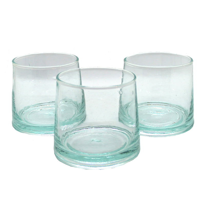 Set of 4 Light Blue Glasses - Medium