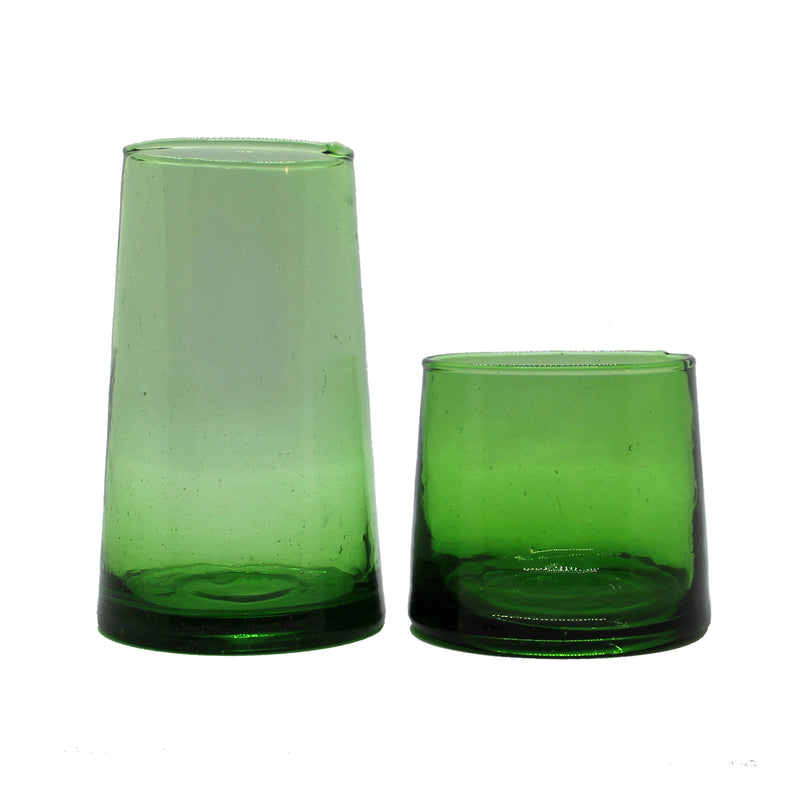 Set of 4 Green Glasses - Large