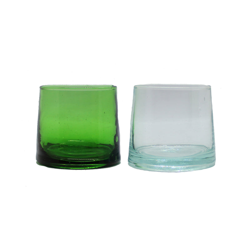 Set of 4 Green Glasses - Medium