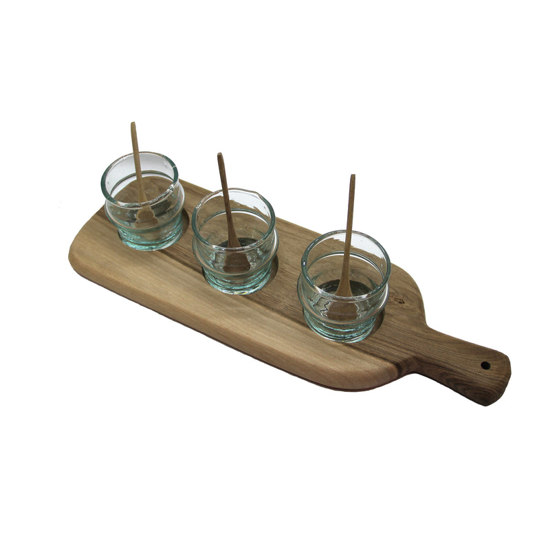 Service Tray with light blue glasses