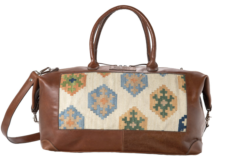 Travelbag - brown/beige kelim
