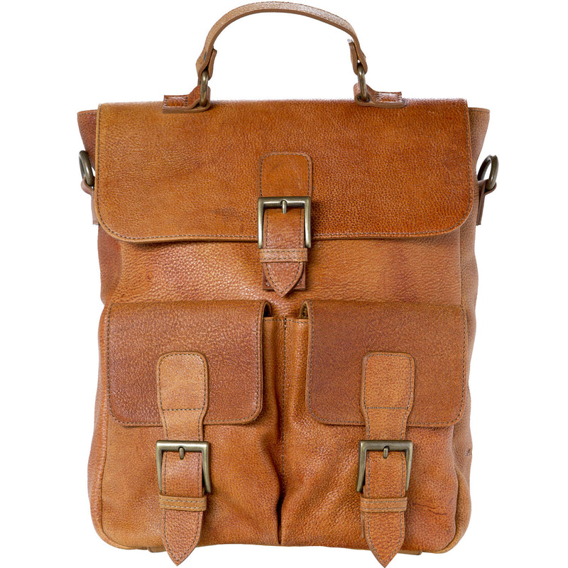 Back Bag - camel/leather