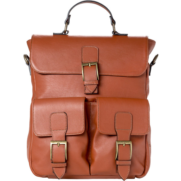 Back Bag - cognac/leather