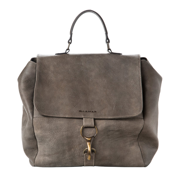 Shopper Bag - grey/leather