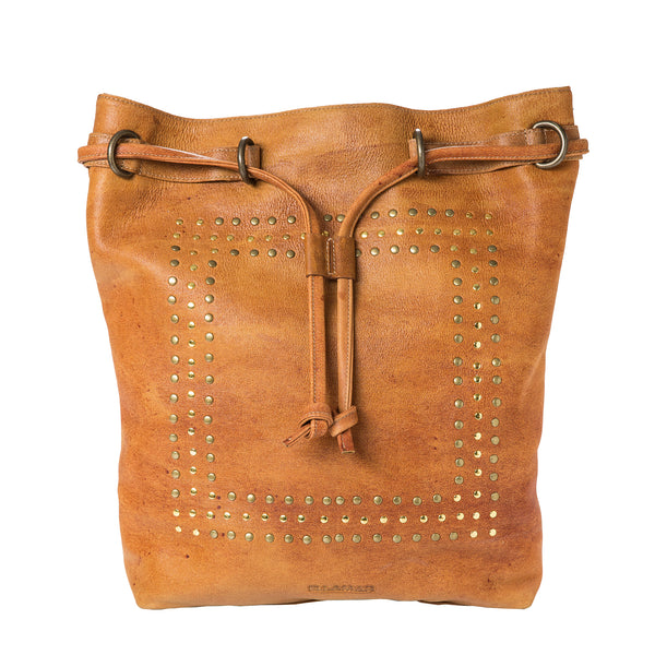 Bag Beutel - camel brown/leather