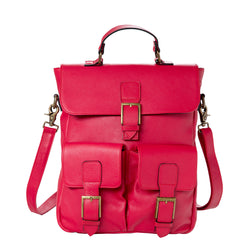 Back Bag - red/leather