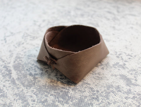 Small Leather Bowl