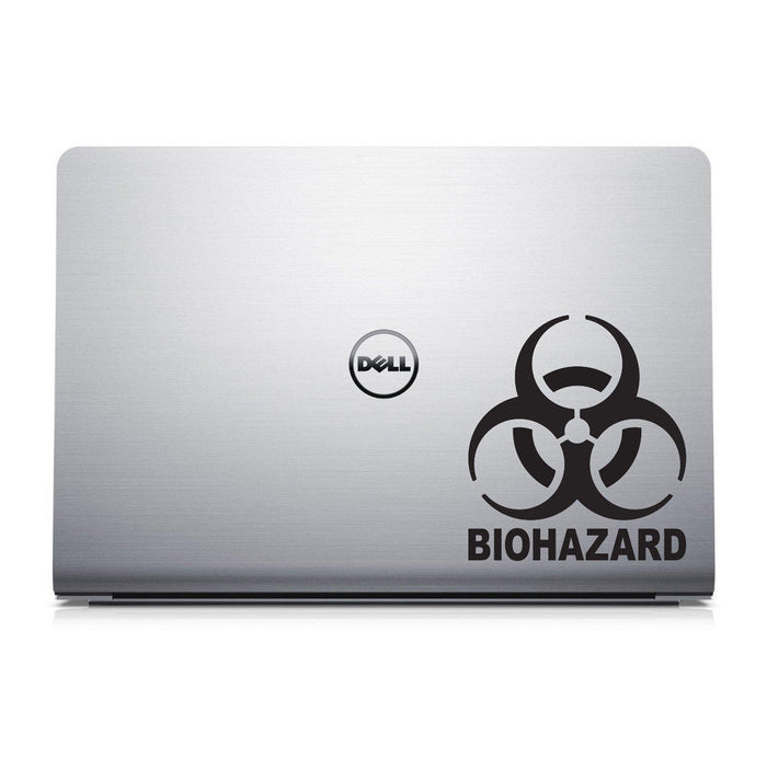 Biohazard Laptop Decal - Hazardous Material Sticker - MacBook Decal