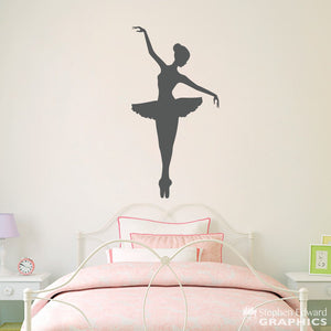 Ballerina Wall Decal - Girl Bedroom Decor - Dancing Wall Art - Ballet Sticker