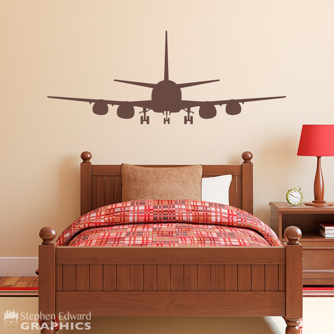 Airplane Boy Bedroom Decal - Plane Wall Decor - Airplane Sticker