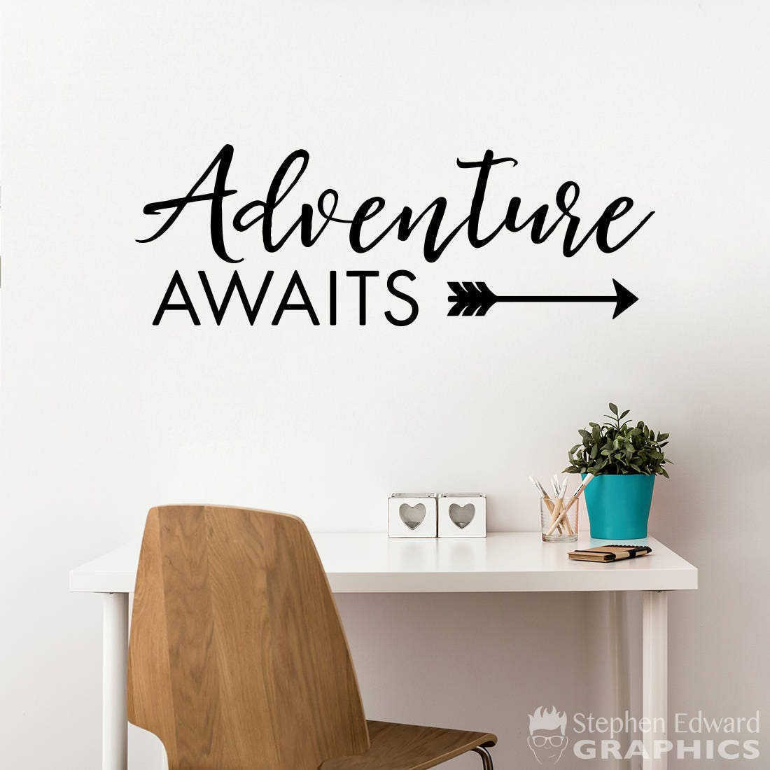 Adventure Awaits Decal Quotes Dezign With A Z