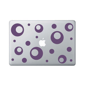 Funky Donut Laptop Decal - Polka Dot Macbook Stickers - Laptop Sticker - Macbook Decal