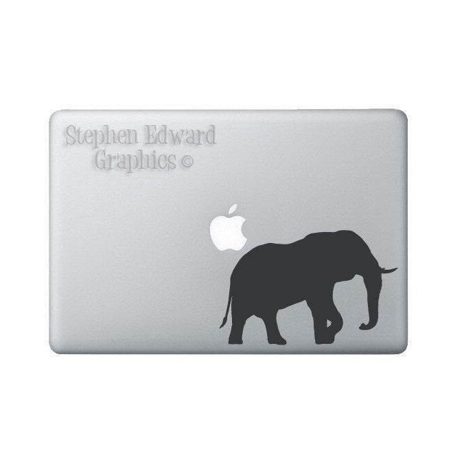Elephant Laptop Decal - Elephant Macbook Decal - Laptop Sticker