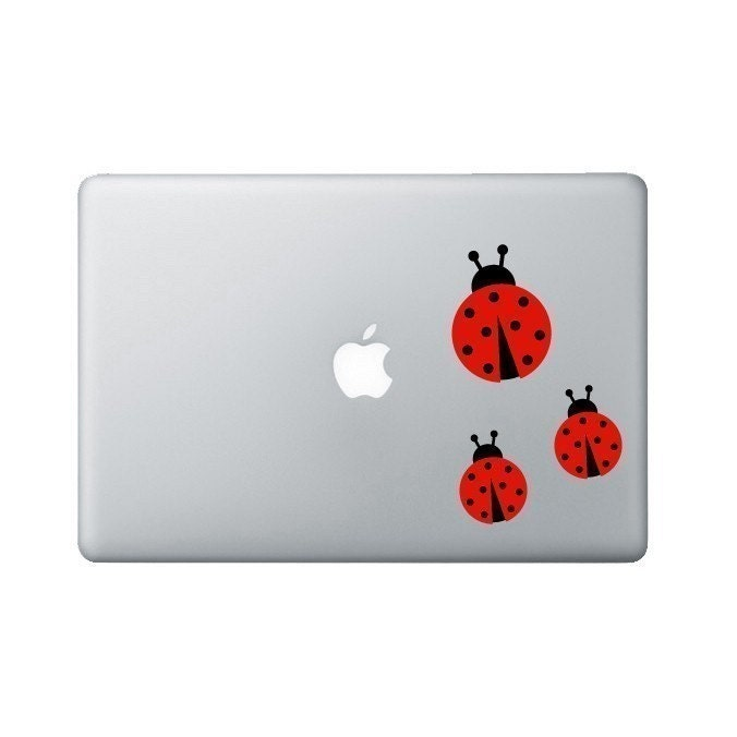 Ladybugs Laptop Decal - Ladybug Macbook Decal - Laptop Sticker