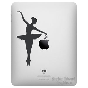 Ballerina iPad Decal - Apple iPad decal - Ballerina Tablet Sticker