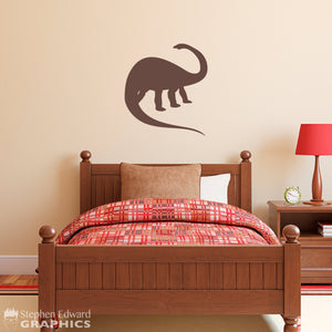 Apatosaurus Dinosaur Decal - Brontosaurus Wall art - Dinosaur Wall Sticker