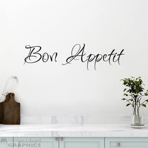 Bon Appetit Decal - Kitchen Decor - French Wall Art - Dining Room Wall Decal - Ver. 1