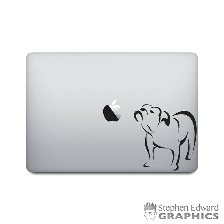 Bulldog Laptop Decal - Dog Macbook decal - Bull Dog Laptop Sticker