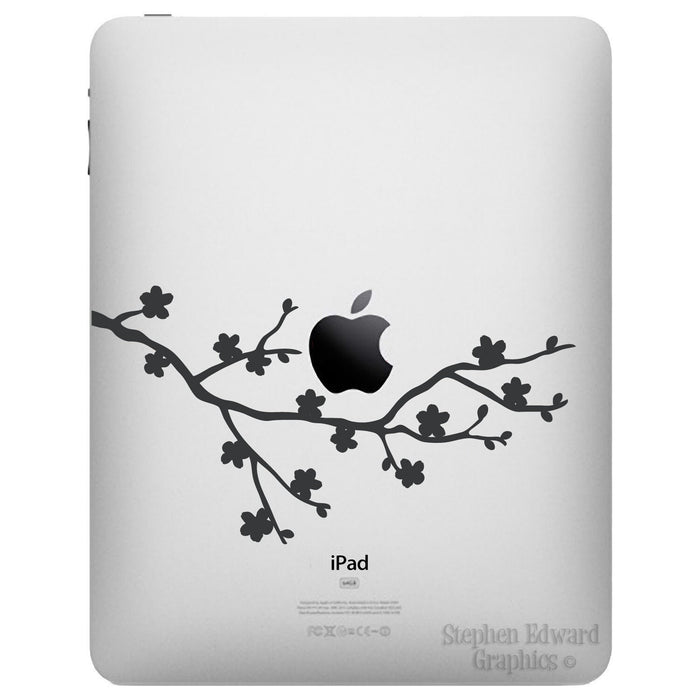 Cherry Blossom iPad Decal - Apple iPad decal stickers by Stephen Edward Graphics
