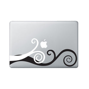 Laptop Decal Wavy Swirl - Macbook Decal - 2 colors