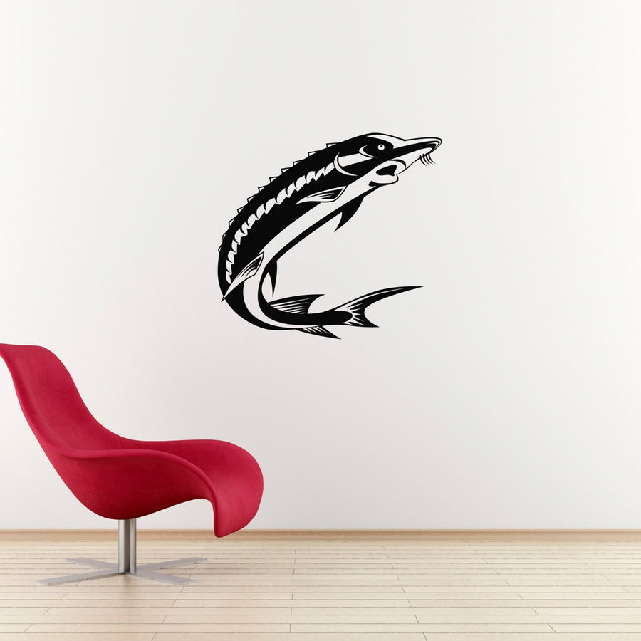 Sturgeon Fish Wall Decal - Sturgeon decal for your Man Cave - Fish Wall Decor